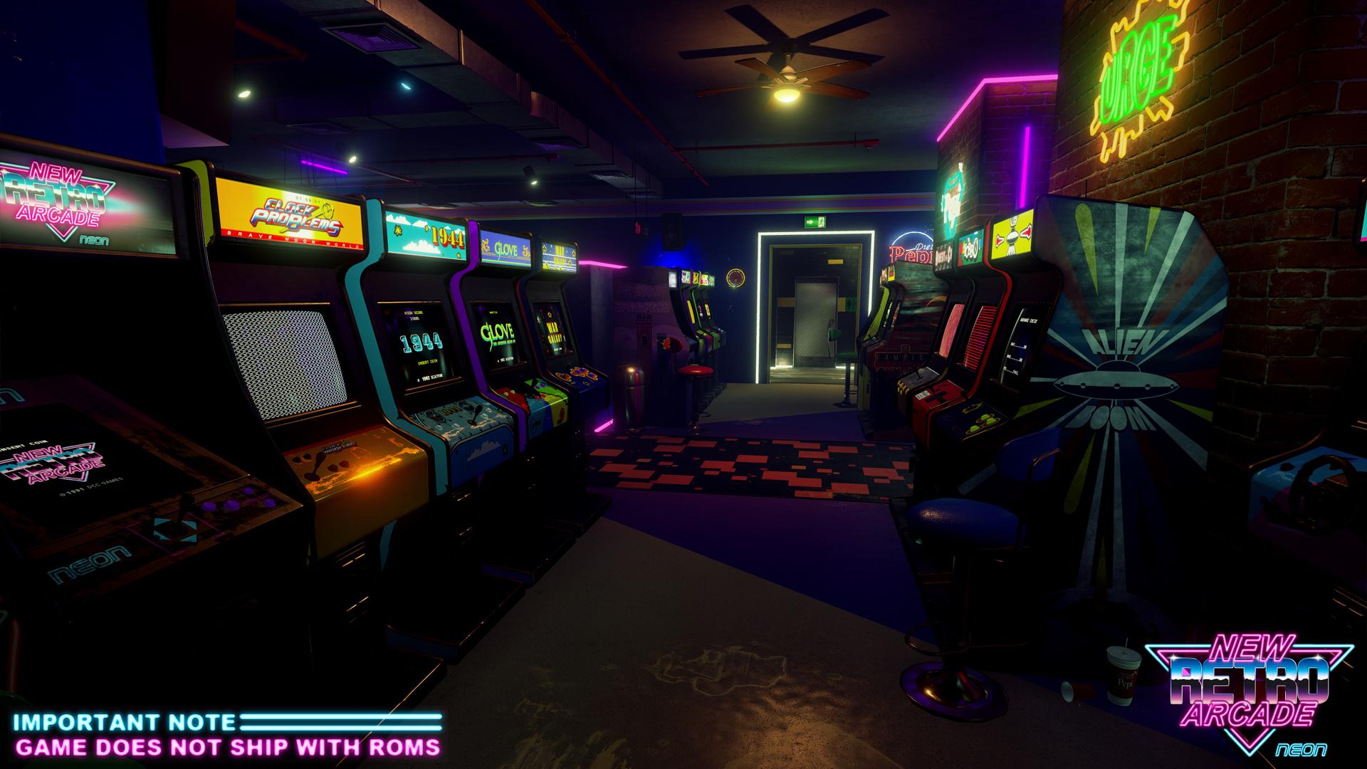 New Retro Arcade Neon Arcade Builder