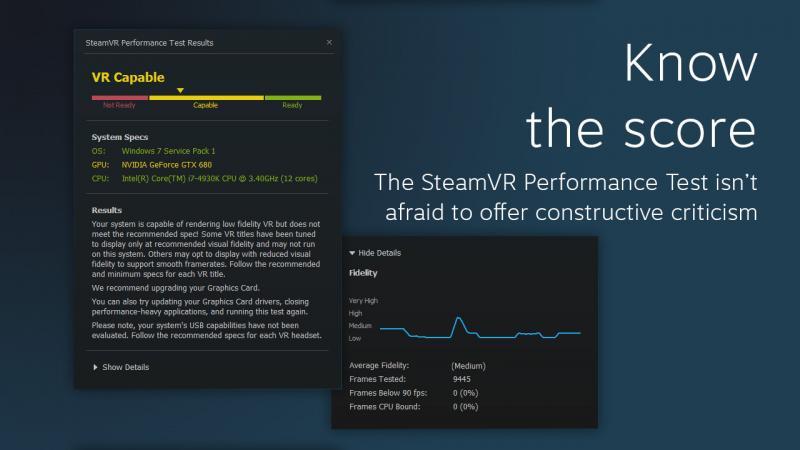 Testez si votre PC est compatible VR avec le SteamVR Performance Test - 6