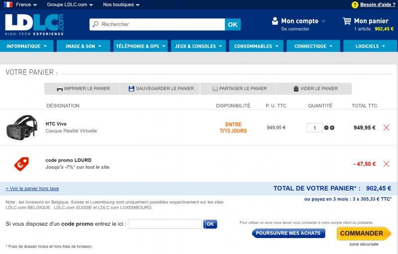 50 euros de réduction sur le HTC Vive - 4