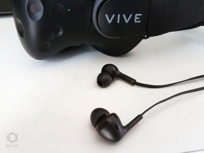 Les écouteurs du HTC Vive