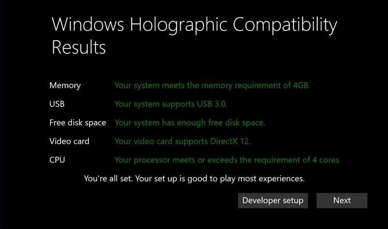 Microsoft dévoile la configuration minimum pour Windows Holographic, la version VR de Windows 10 - 4