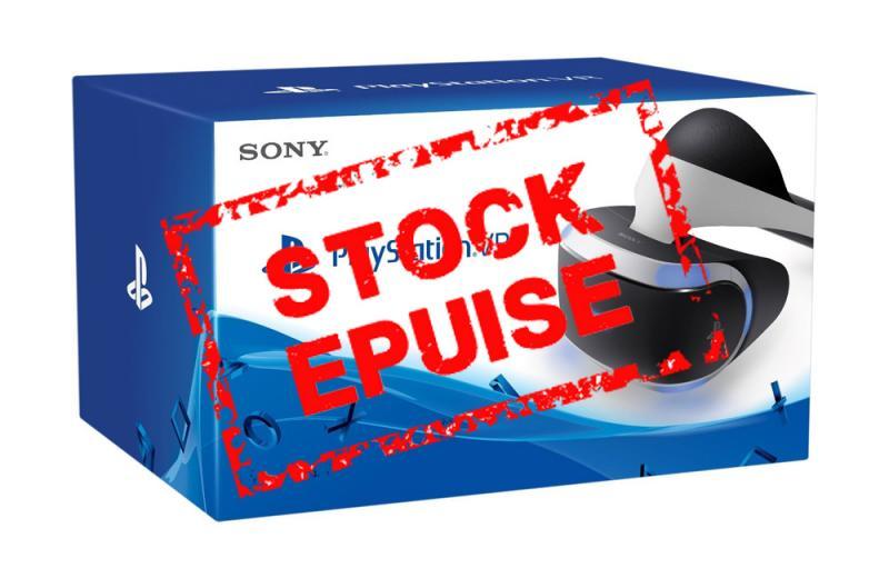 Nouvelle rupture de stock pour le Playstation VR. Encore quelques casques disponibles dans certaines enseignes. - 2