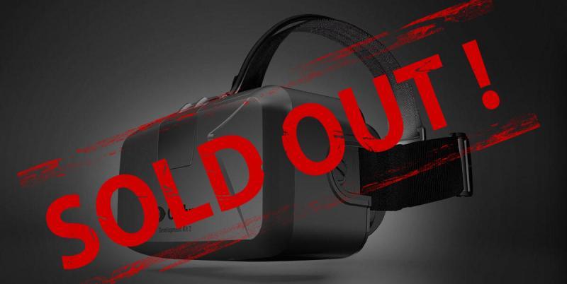 Ventes terminées pour l'Oculus Rift DK2 ! - 2
